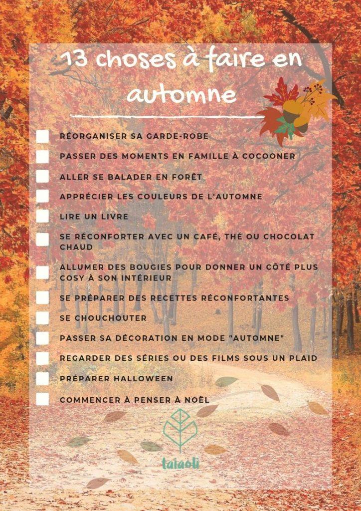 To do list automne - Que faire en automne