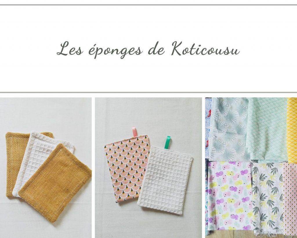 Eponges lavables Koticousu