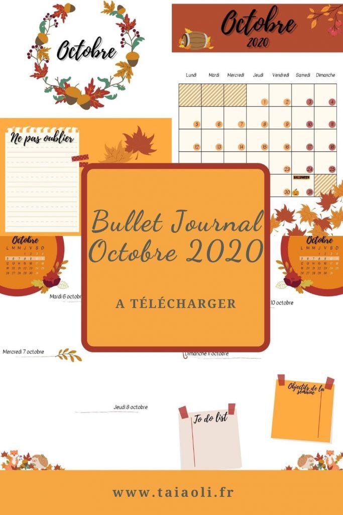 Bullet journal Automne Octobre 2020