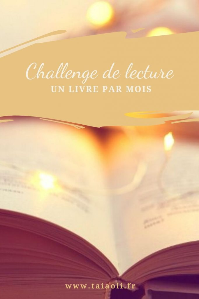 Challenge lecture un livre par mois